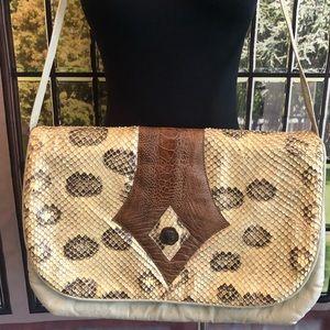 Vintage 1980's Novita Krishnau Snake Leather Bag